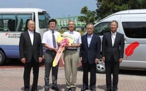 新潟県遊協の福祉車両寄贈